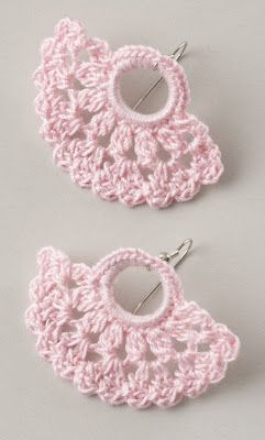 crochet earrings patterns free | Check out these Crocheted Earrings ! Wouldn't they be pretty with ...