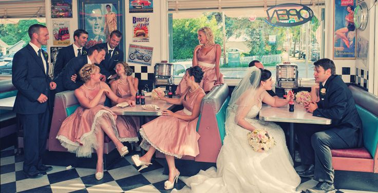 50s Diner Wedding :)