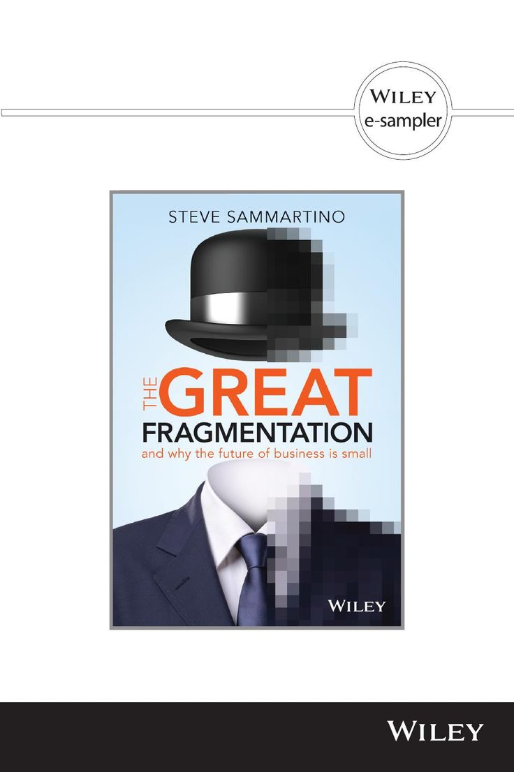 The Great Fragmentation by Steve Sammartino  Read a sample chapter and find out why the future of business is small