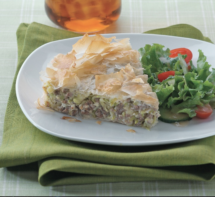 Greek Zucchini, Meat & Feta Pie made by ATHENOS #spinach #beef #phyllo #spanakopita #dinner
