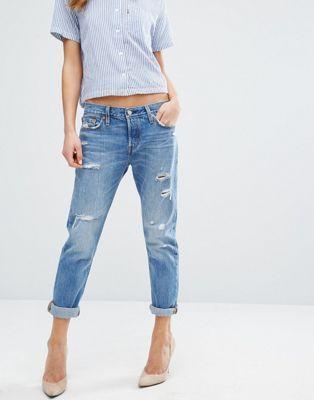 Levi's 501 CT Boyfriend Jeans with Abrasions
