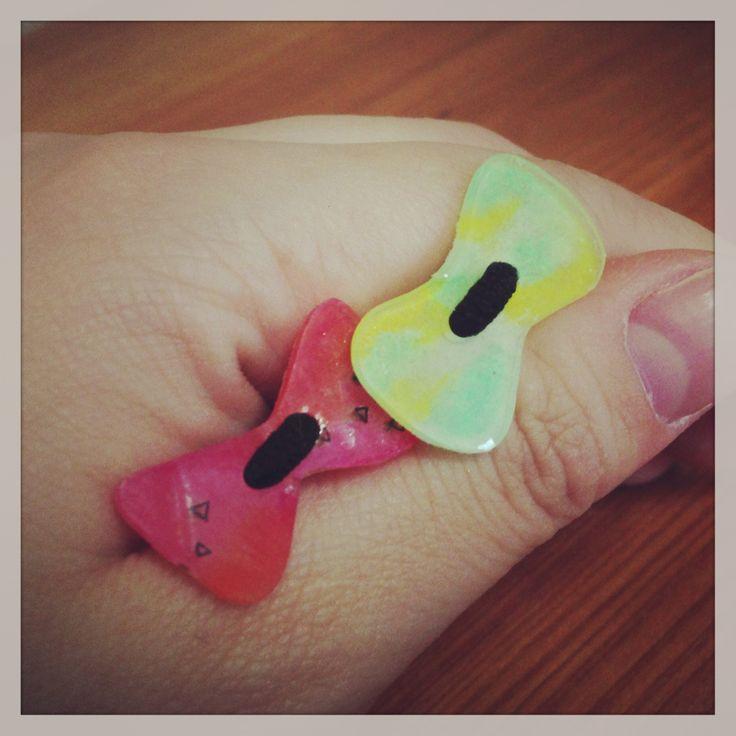プラ板アクセサリー Plastic accessories