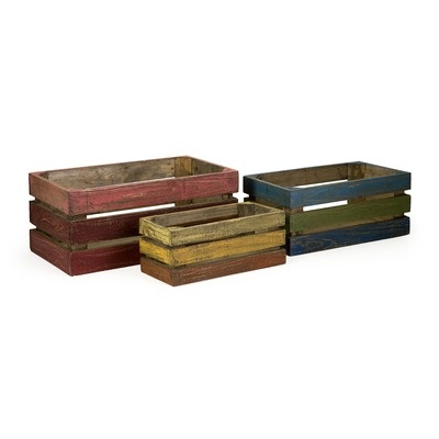 IMAX Midway Wood Crate in Rustic (Set of 3)... I think I can duplicate these from pallets.Decor, Midway Crates, Ideas, 29128 3, Crates Sets, Midway Wood, Imax Corporate, Wooden Crates, Wood Crates