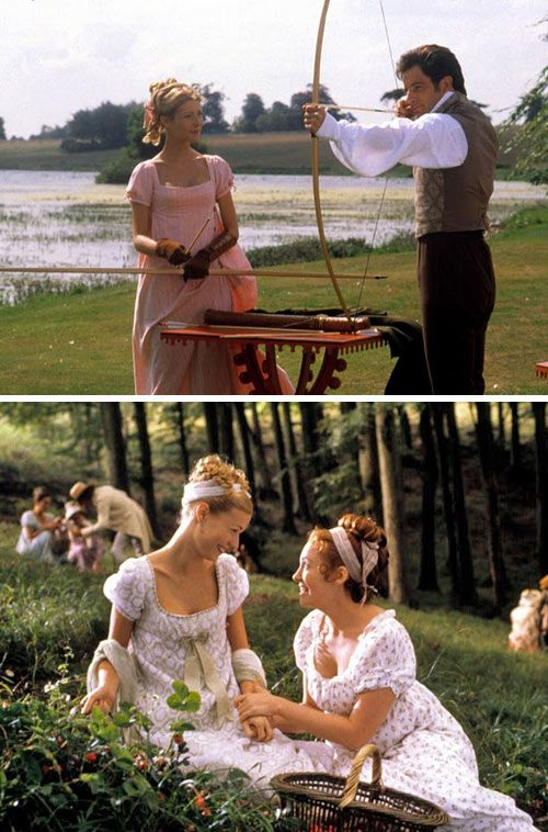 "Pink archery dress from Emma.  This is my favorite scene from the movie (""Try not to kill my dogs"").  Love the rapport between Emma and Knightley in this scene."