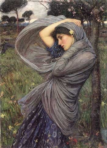 One of my all time favourites Boreas - Pre-Raphaelite Art.