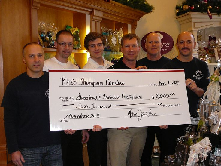 2013 Movember Donation with Tavistock and Stratford Fire Depts.