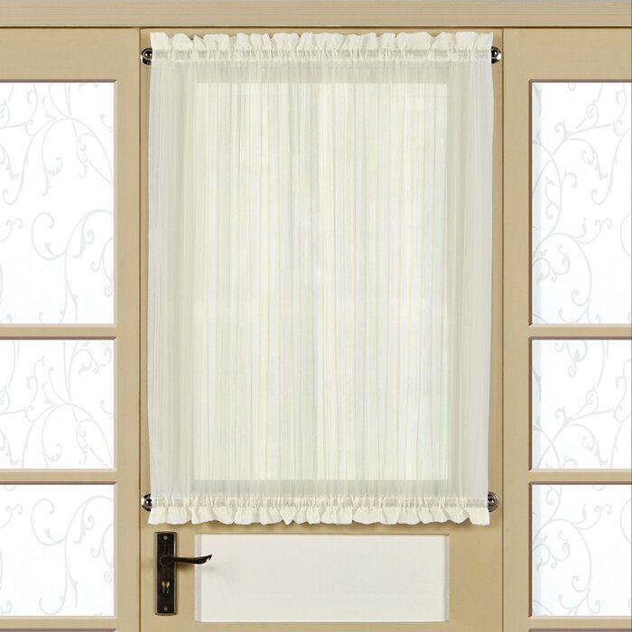Neihoff Micro Stripe Semi Sheer Rod Pocket Single Curtain Panel Panel Curtains Panel Doors Door Curtains