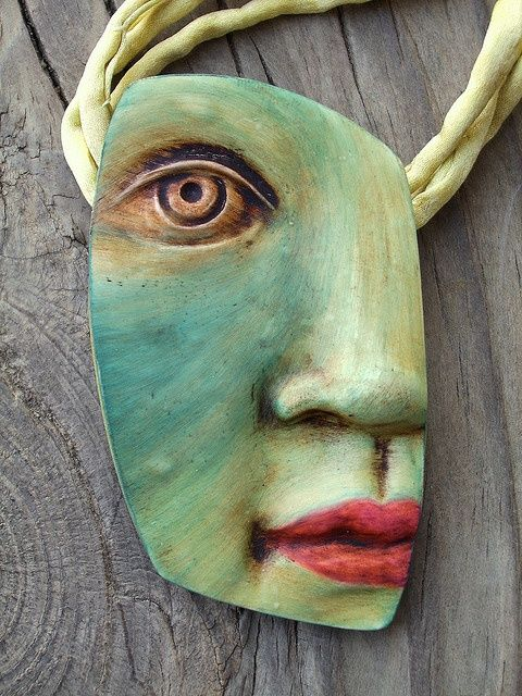 Green Goblin by Kim Cavender (Polymer Clay artist) - (artesens)
