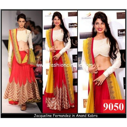 Designer Indian Traditional Ethnic  Bollywood Replica Jacqueline Fernandes Stylish Lehenga  - Online Shopping for Lehengas by Ethnictrend