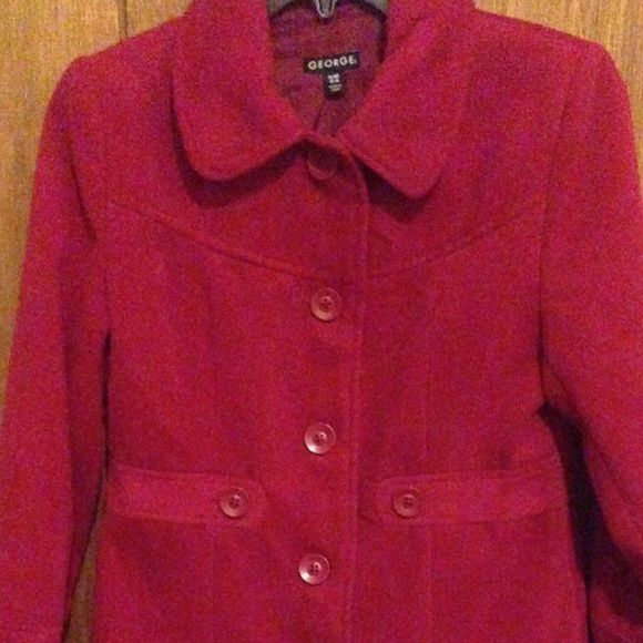 Red trench coat(Kid's) Red trench coat for girls. Very long with many buttons to close it up. Very cute and fashionable. Great for Church during the winter season. If you have any other questions please ask! George Jackets & Coats