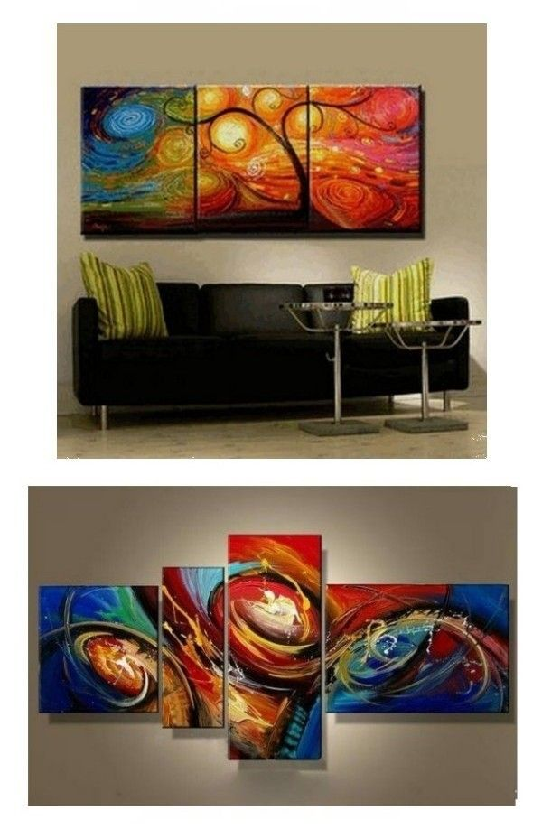 Abstract Painting Canvas Painting Living Room Wall Art 3 Piece