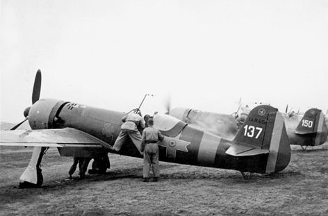 IAR 80A fighters of Gr. 9 Vt. on the Eastern Front, in 1943