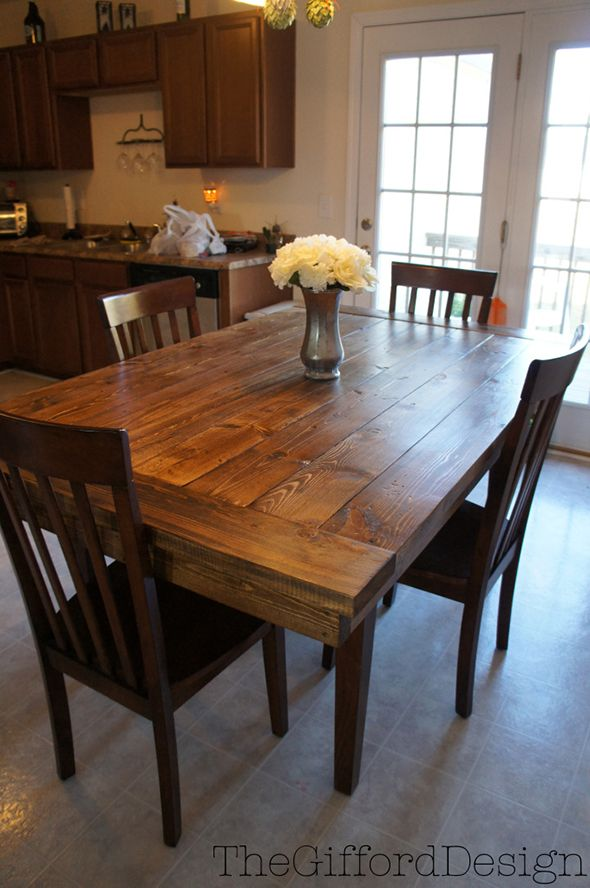 The DIY:: Farm-House Table. Looks gorgeous!