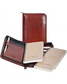 Scully Mahogany Italian Leather Planner