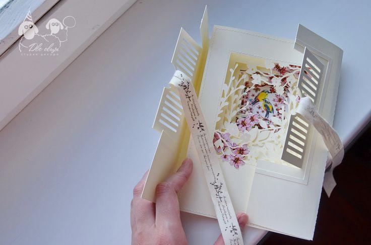 Secret garden kirigami card / Открытка Таинственный сад (киригами)