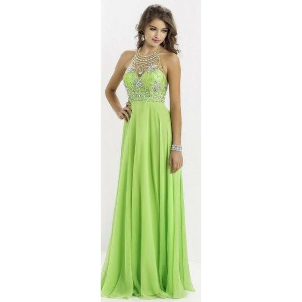 Lime Green Prom Dresses ❤ liked on Polyvore featuring dresses, lime green dress, lime prom dresses, cocktail prom dress, lime dress and green prom dresses