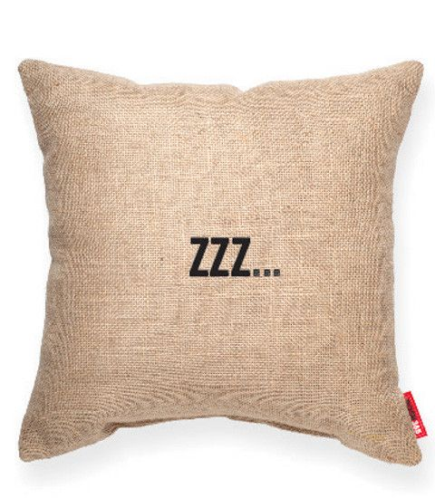 zzz... Burlap Decorative Pillow Decoration Bedrooms Pinterest Take a nap, Cute pillows and ...