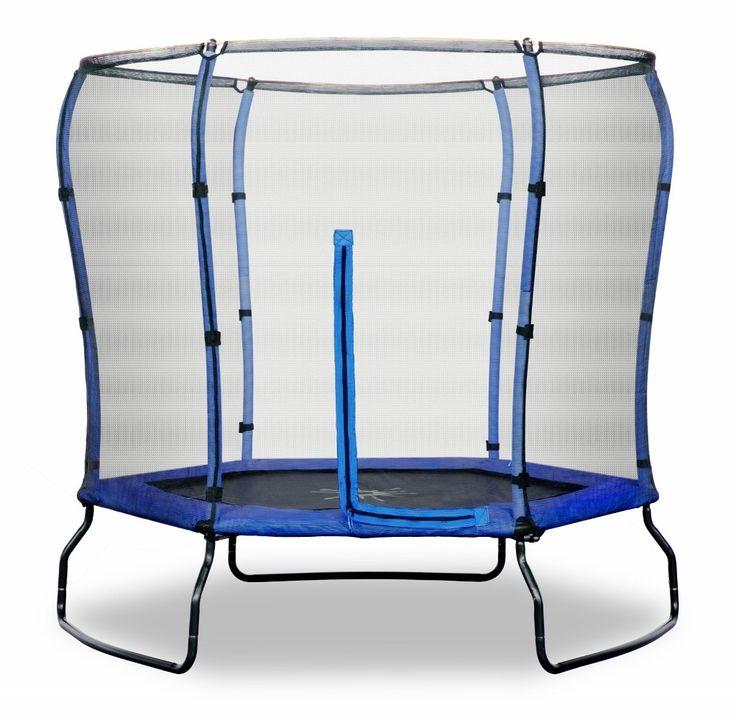 Rebo 7FT Safe Jump Trampoline With Safety Enclosure - Blue #kidstoys #trampoline #outdoortoys #summer
