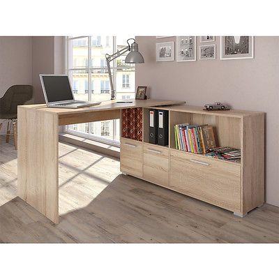 Desk Corner desk Wrap-around desk Computer desk Sonoma Oak