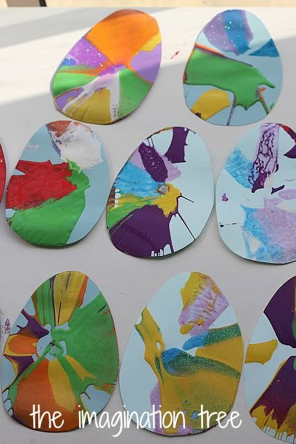 Easter Egg Spin Art Garland