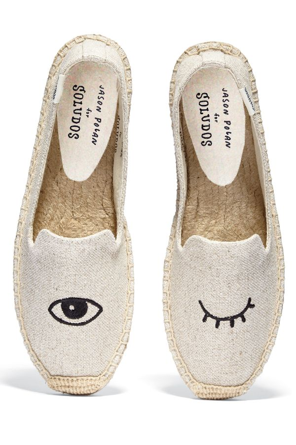 #Soludos has collaborated with artist Jason Polan to create these playful winking eye flats #10022Shoe