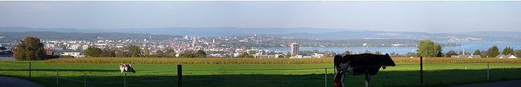 Blick auf Kreuzlingen und Konstanz von Süden