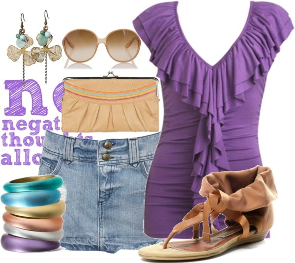 """""""Skirt and Purple"""" by gl0ry on Polyvore"""