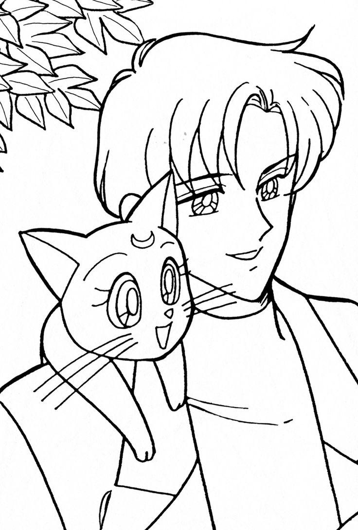 Mamoru and Luna Coloring Page // #sailormoon | Sailor Moon ...