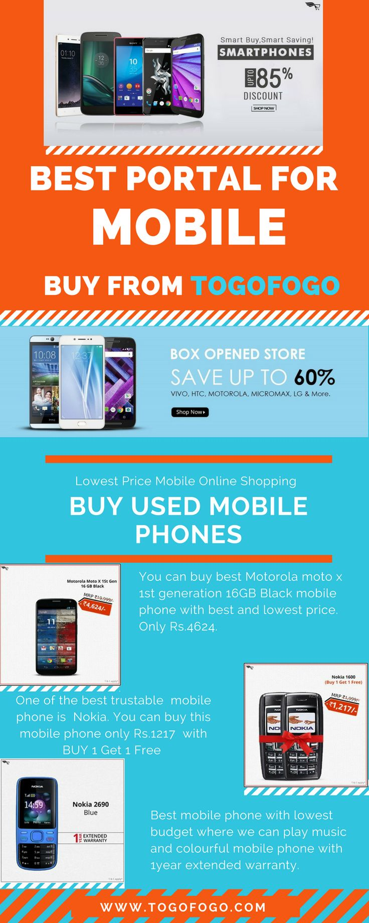 Used Mobile Phones: Buy used mobile, refurbished, box opened and certified pre-owned mobile phones, tablets & laptops online in India with huge discounts, 1 year warranty, free shipping, and COD.