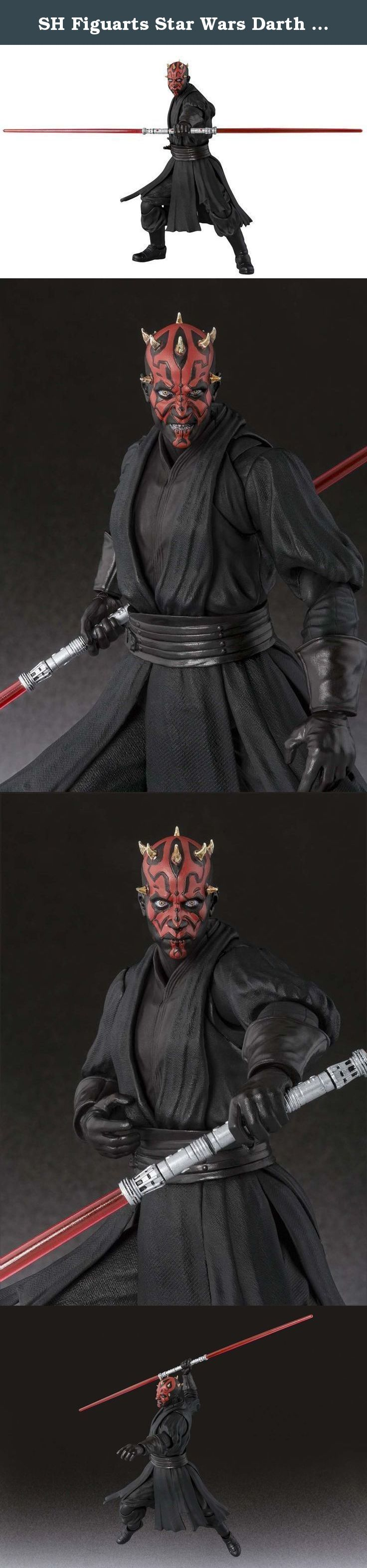 SH Figuarts Star Wars Darth Maul (Episode I) about 140mm ABS u0026 PVC painted action figure by Bandai. precisely reproduced. Comes with two parts of face expression.