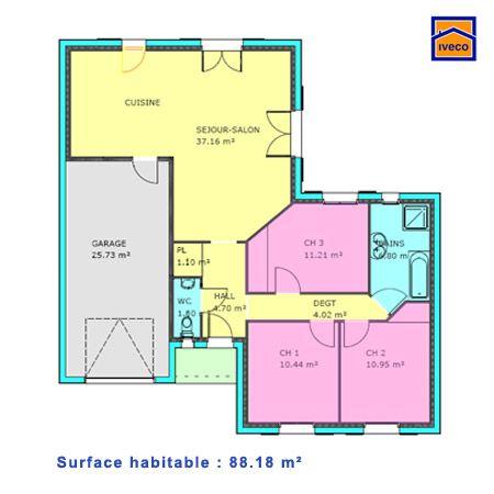 7 best Décoration intérieure images on Pinterest Home plans, My - plan de maison en l de plain pied gratuit