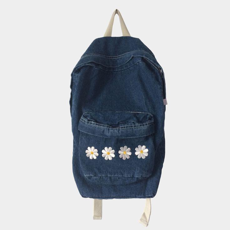 Daisy Denim Backpack (Dark)