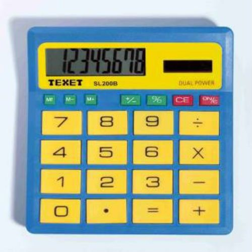 Call @ 9769465202. Get online Texet SL-020BLUE 8-Digit Dual Powered Best Desktop Calculator in Blue at the best price of Rs.432/- only from Shopattack.in