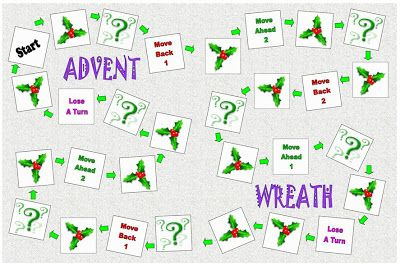The Catholic Toolbox: Advent Wreath- (file folder game). Has two versions - one for readers and one for non/early-readers. #kidmin #advent