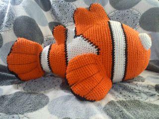 Finding Nemo | The Duchess' Hands, #crochet, free pattern, Nemo, amigurumi, stuffed toy, #haken, gratis patroon (Engels), vis, knuffel, speelgoed, #haakpatroon
