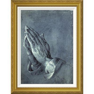 "Global Gallery 'Praying Hands' by Albrecht Durer Framed Painting Print Size: 28"" H x 21.61"" W x 1.5"" D"
