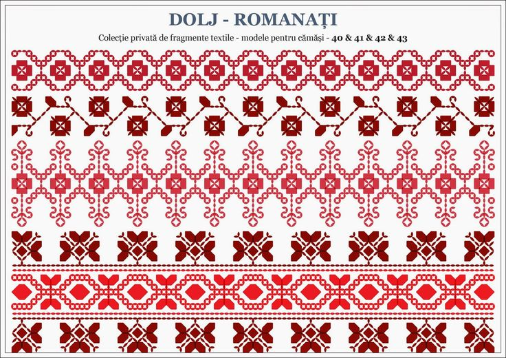 Semne Cusute: Romanian traditional motifs - OLTENIA, Dolj-Romana...