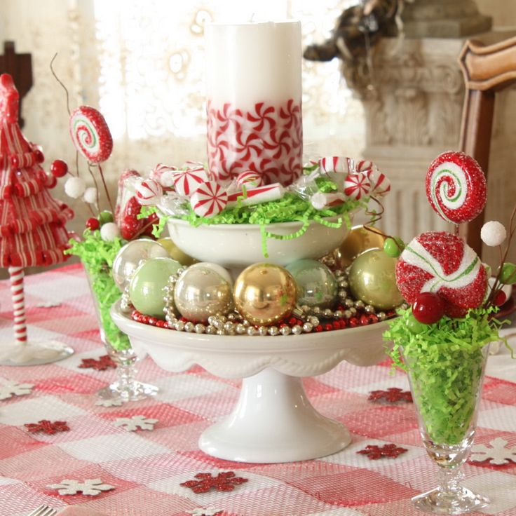 1147 best christmas table decorations images on pinterest Christmas table dressing