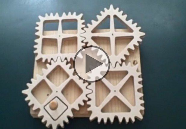Gears Of All Shapes A gear is a rotating machine part having cut teeth, or cogs, which mesh with another toothed part to transmit torque.Two or more meshing gears, working in a sequence, are called a gear train/ Gears Of All Shapes – Does These Gears Really Work? In the video below, wooden clock designerClayton Boyerdemonstrates a variety of square,
