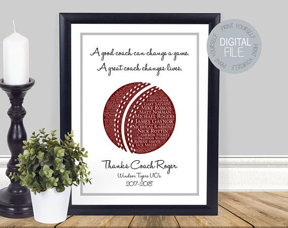 Cricket Coach Gift Cricket Printable Cricket Lover Present Etsy Coach Gifts Cricket Coaching Gifts