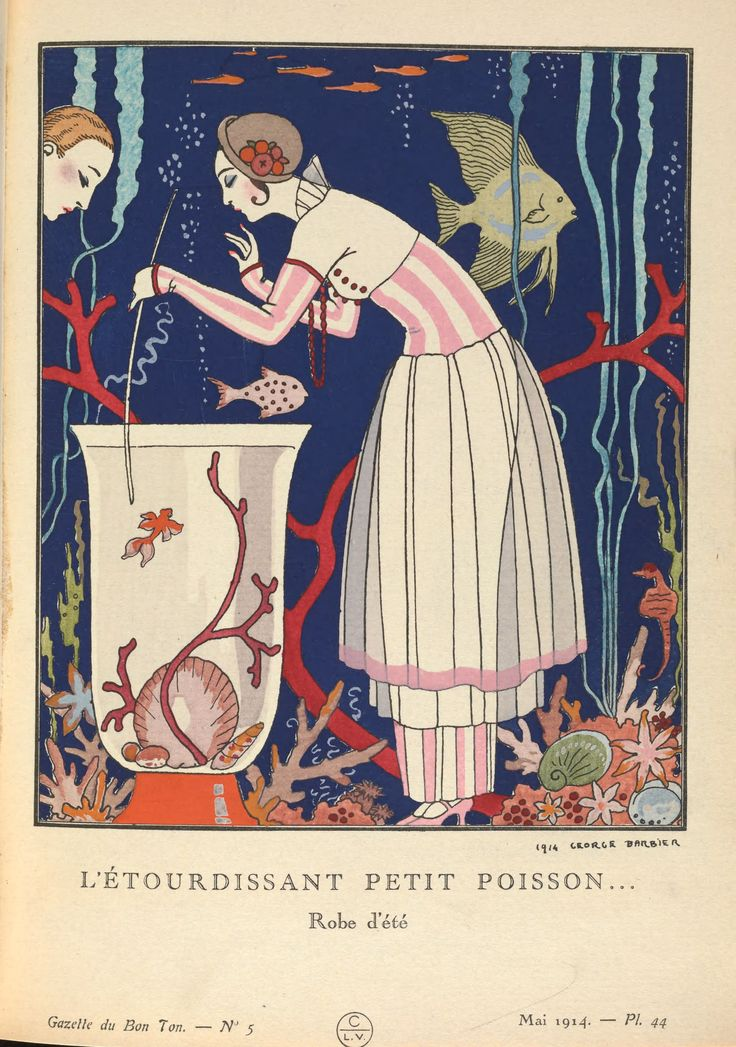 "Design by Georges Barbier form ""Gazette du Bon Ton"" magazine 1914. Stunning!"