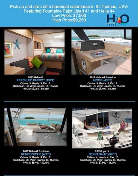 Want to pick up your bareboat catamaran for a week in the US Virgin Islands instead of the British Virgin Islands? #bviyachtcharters has 6 catamaran yachts that can be picked up on St Thomas!
