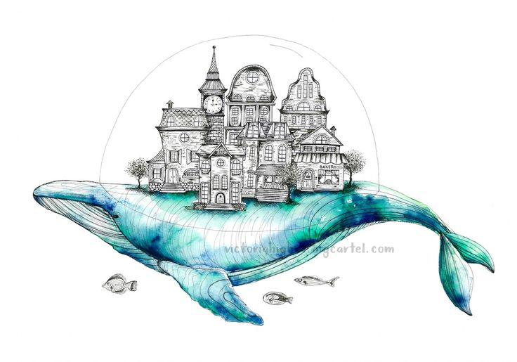 20 best zentangle whales images on pinterest draw for Alex cherry flying whales wall mural