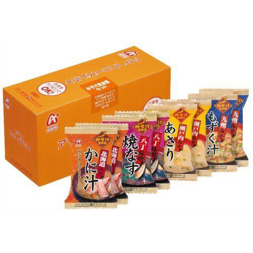 アマノフーズ みそ汁里自慢セット 8袋入[アマノフーズ インスタント味噌汁(即席味噌汁) ケンコーコム_]【あす楽対応】【楽天市場】
