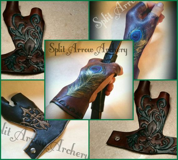 Check out this item in my Etsy shop https://www.etsy.com/listing/262903920/carved-leather-bow-hand-glove