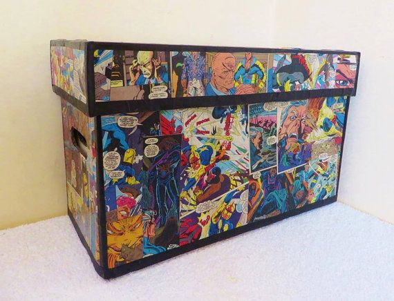 Custom Comic Book Storage Box by KnowhereDesign on Etsy                                                                                                                                                                                 More