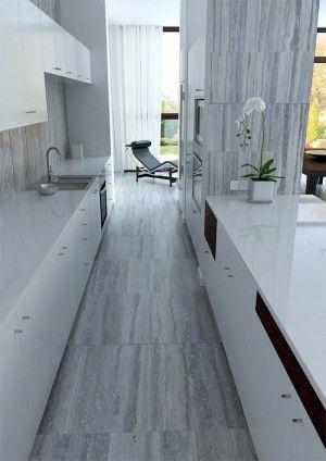 Modern Kitchen in Travertine