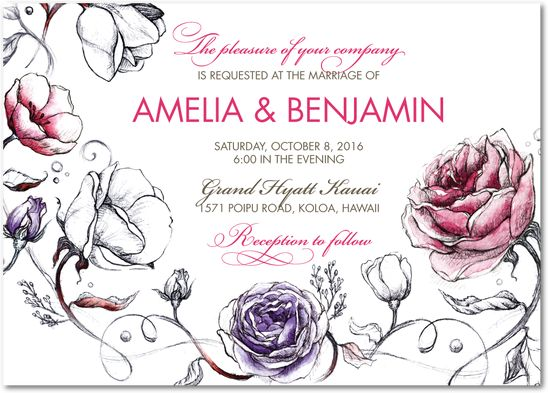 Illustrated Love | Wedding Paper Divas Other colors available