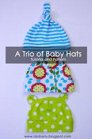 Baby hats tutorial & pattern