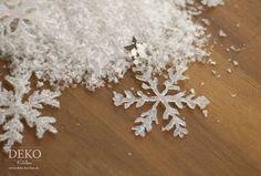 DIY: Weihnachtsdeko basteln - Eiskristalle aus Heißkleber Deko-Kitchen